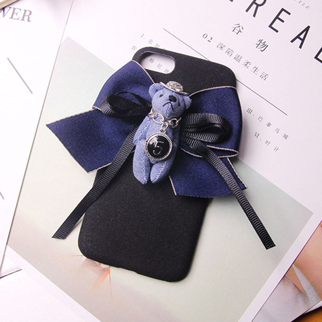 New Fashion Keychains High Ribbon Bow Car Keychain Bear Key Chain Creative Birthday Gifts Key Ring Holder Bag Pendant B-KC11