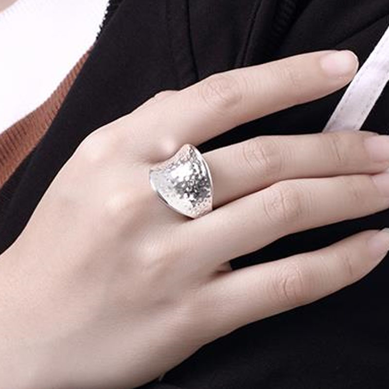 Delicate Wedding Rings For Women Creative Thumb Dots 925 Plated