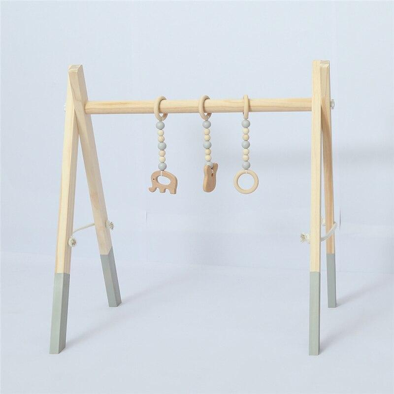 Cadre de gymnastique en bois d'activité de bébé avec les nouveau-nés nordiques Mobiles décor de chambre d'enfants de bébé jouets éducatifs précoces accessoires de photographie - 4