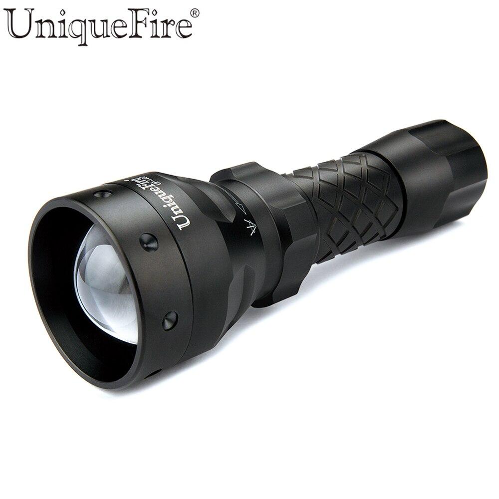 UniqueFire 1407 850 NM IR lampe de poche LED 3 Modes Zoomable tactique Vision nocturne lanterne par 18650 batterie pour la chasse