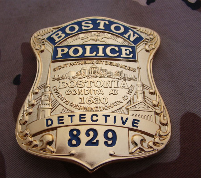 United States Boston Detective Cosplay Badges Copper No.829 Shirt Lapel Badge Brooch Pin Cosplay Collection Gifts