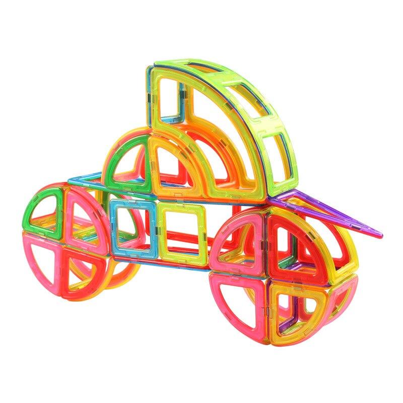 TENSOGER Kids Magnetic Blocks Construction Enlighten Assembly Building Blocks Toys Kids Educational DIY Plastic Technic Brick