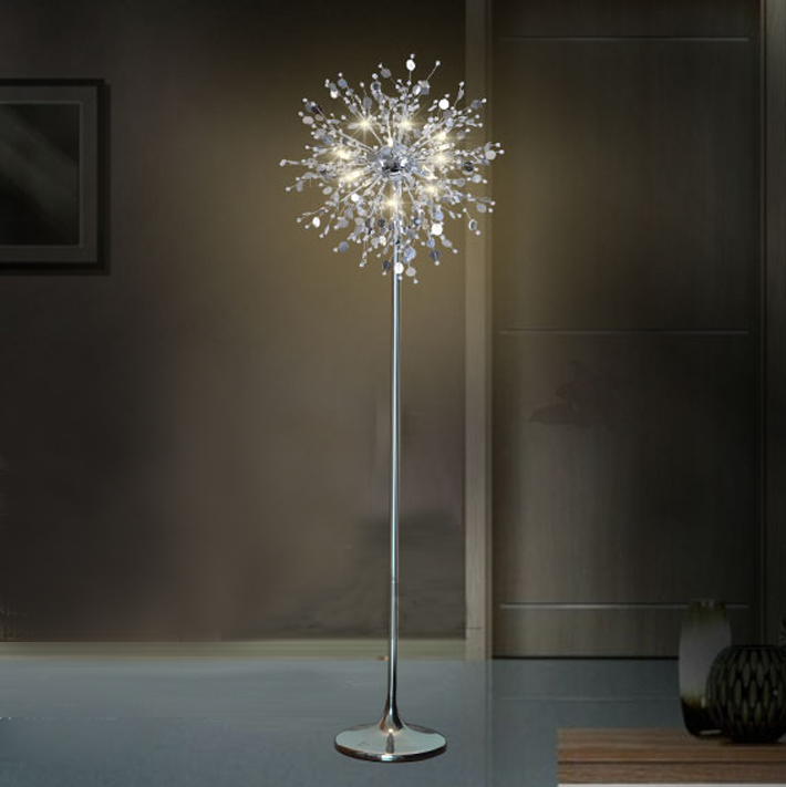 Decorative Flower Tree Floor Light Lamp Crystal Stand Lamp