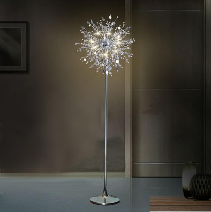Fleur Decorative Arbre Lampadaire Lampe En Cristal Lampe Led