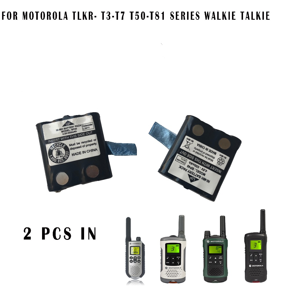 2PCS walkie talkie radio Battery for Motorola T3 T7 T8 XTR446 TLKR T50 T60 T70 T80 T81 Uniden BP38 BP40 BT-1013 BT-537 battery