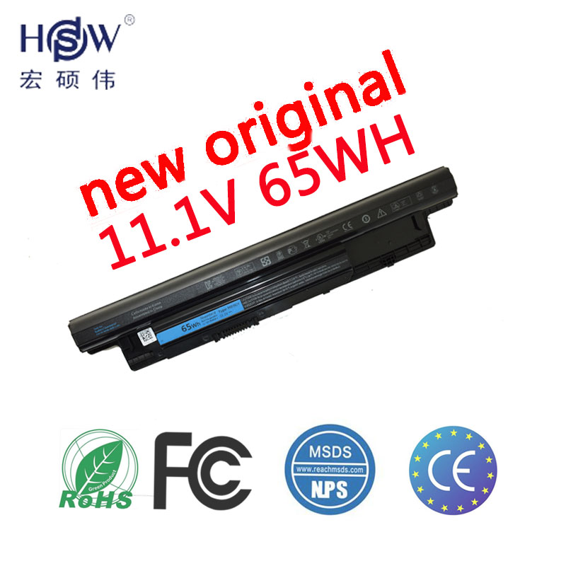 HSW Laptop Battery For Dell Inspiron 17R 5721 3721 15R 5521 15 3521 14R 5421 14 3421 MR90Y VR7HM W6XNM VOSTRO 2521 2421 15 6 inch for dell inspiron 15 3521 n3kmp 0m4tk3 15r 5521 15r 5537 laptop slim lcd led screen display panel matrix replacement
