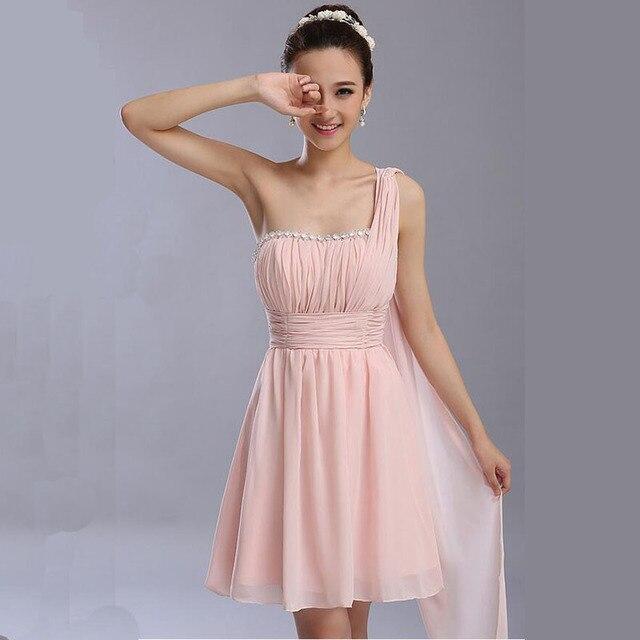 Prom Kleider neue kurze design vestidos perlen champagner farbe ...