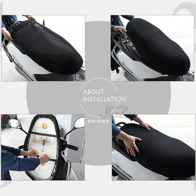 Motorcycle Seat Cover Waterproof Sun Insulation Scooter Seat Cushion Protect Black Camo for Vespa Kawasaki Yamaha Triumph Honda