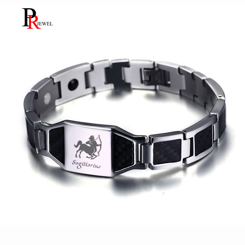 Brave Sagittarius Power Bracelets for Men Health Bio Energy Magnetic Therapy Link Chain Wrist Armband PulseraBrave Sagittarius Power Bracelets for Men Health Bio Energy Magnetic Therapy Link Chain Wrist Armband Pulsera