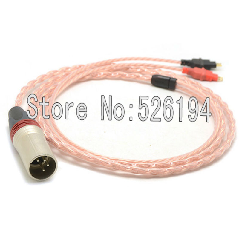 Free shipping 4pin XLR Male 5N pure copper Cable for HD700 Headphone Headset cable