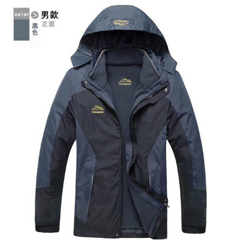Winter Jacket Men Women 3 In 1 Warm Waterproof Windproof Men Outdoor Jacket font b Camping