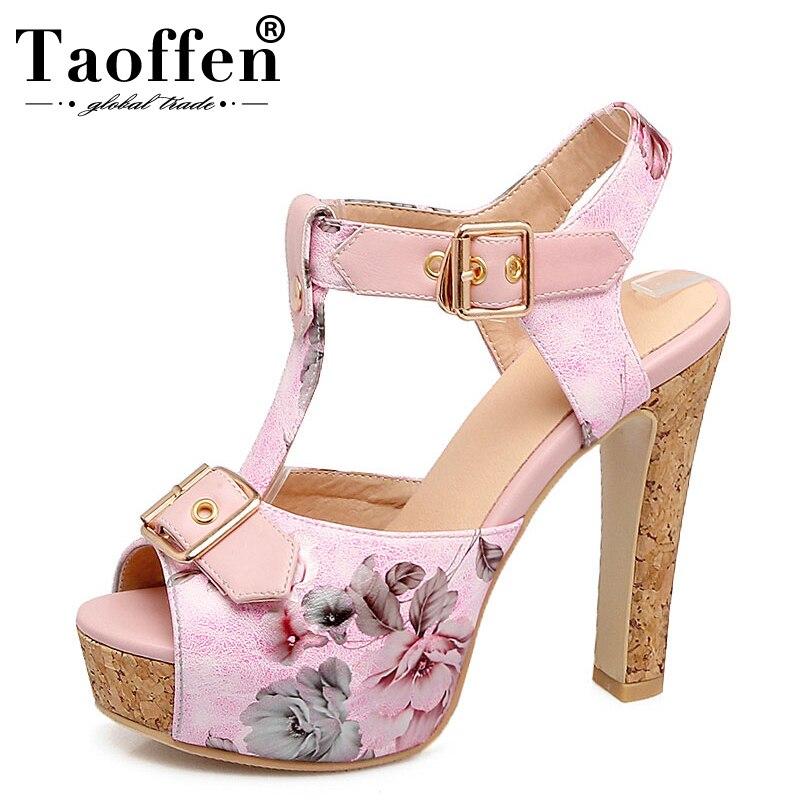 1d8c8e3a7 Comprar TAOFFEN Plus Size 32 46 Personalizado Peep Toe Fivela ...