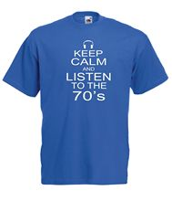 купить KEEP CALM 70'S funny music party New Mens Womens T SHIRT TOP 8-16 s m l xl xxl Harajuku Tops Fashion Classic Unique дешево
