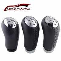 SPEEDWOW 5 velocidad de cambio de engranaje de mando con la cabeza de palanca de cambio de marchas de coche manejar Universal para Renault Laguna Megane 2 Clio escénica 2