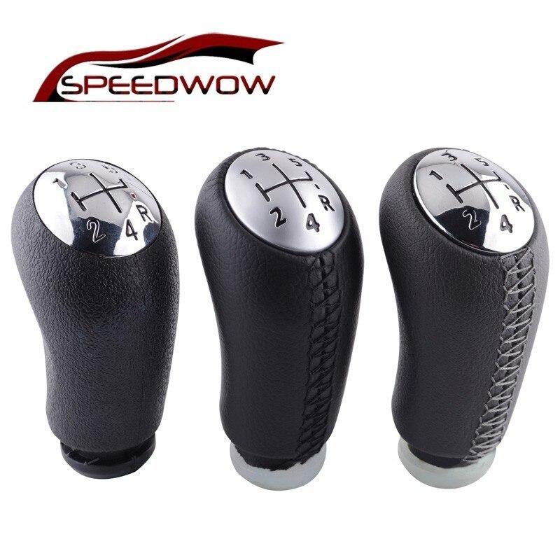 Speedwow 5 velocidade botão de mudança de engrenagem vara cabeça alavanca do deslocamento de engrenagem do carro alça universal para renault laguna megane 2 clio 3 scenic 2