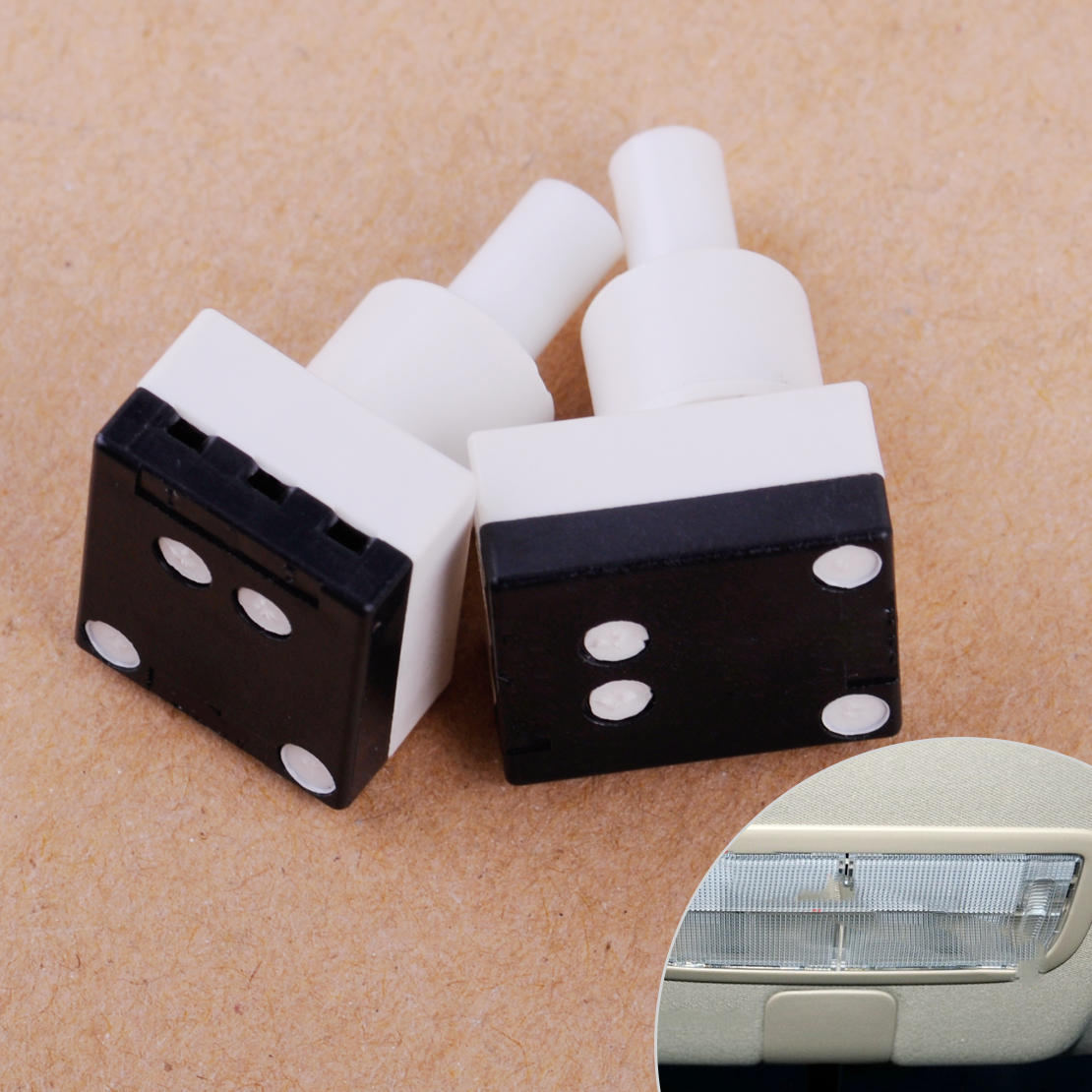 beler one pair Interior Dome Light Lamp Switch Set Fit For Honda Accord CR-V Element Odyssey Pilot 34404SDAA21