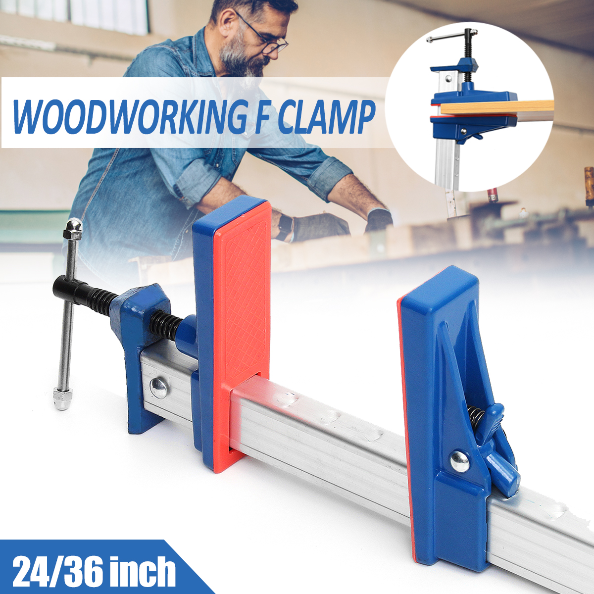 24/36 inch Heavy Duty F Clamps for Woodworking Clamp DIY T Bar Wood Clamps Quick Release Clip Wooden Board Holder Grip Hand Tool цена