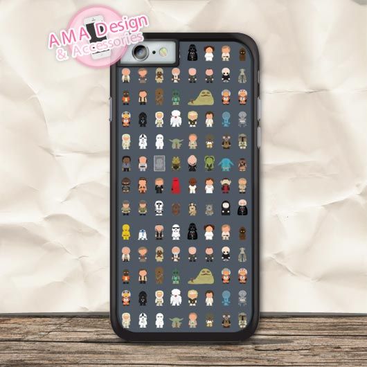Star Wars All Lovely Characters Protective Case For iPhone X 8 7 6 6s Plus 5 5s SE 5c 4 4s For iPod Touch