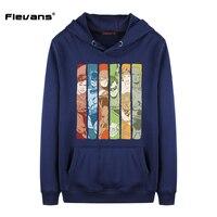 Flevans DC Super Heroes Justice League Print Men Hoodies Street Wear Casual Hip Hop Pockets Sweatshirt