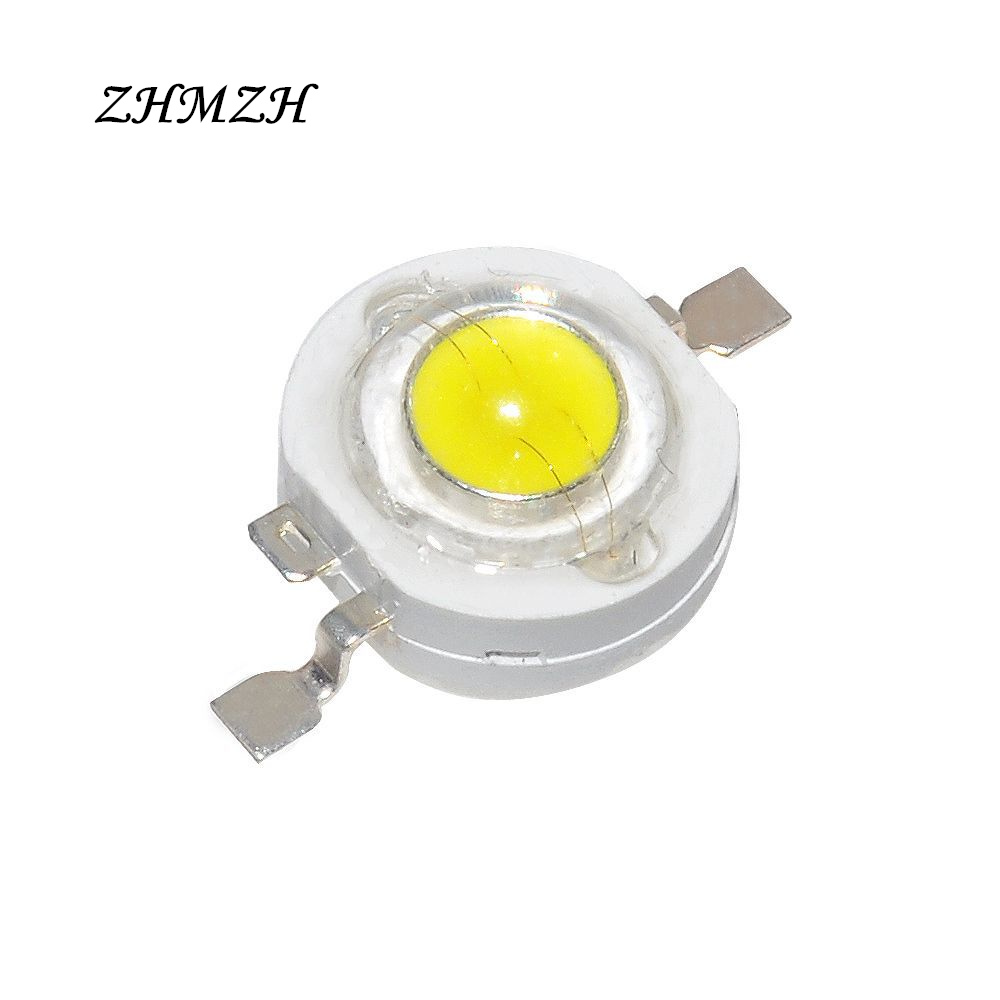 20pcs/lot 1W High Power LEDs Chip SMD LED Light-Emitting Diode 100-110lm LED Lamp Bulb For Downlight Spotlight White Blue Green