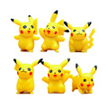 6 pçs/lote Coleções Brinquedos Pikachu Mini Toy Figuras de Ação PVC Boneca Anime Brinquedos Dos Desenhos Animados Presente Das Crianças de 3.5-5 cm