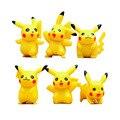 6 unids/lote Pikachu Mini Figuras de Acción de Juguete PVC Colecciones de Muñecas Juguetes de Anime de Dibujos Animados de Juguete Regalo de Los Niños 3.5-5 cm