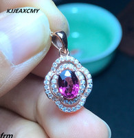 KJJEAXCMY boutique jewelry,Physical Photo 925 sterling silver inlaid natural magnesium aluminum garnet pendant chain