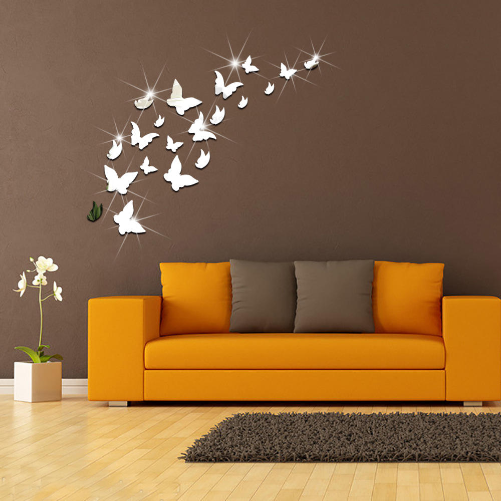 20pcs/set Acrylic Butterfly Wall Sticker DIY Decoration ...