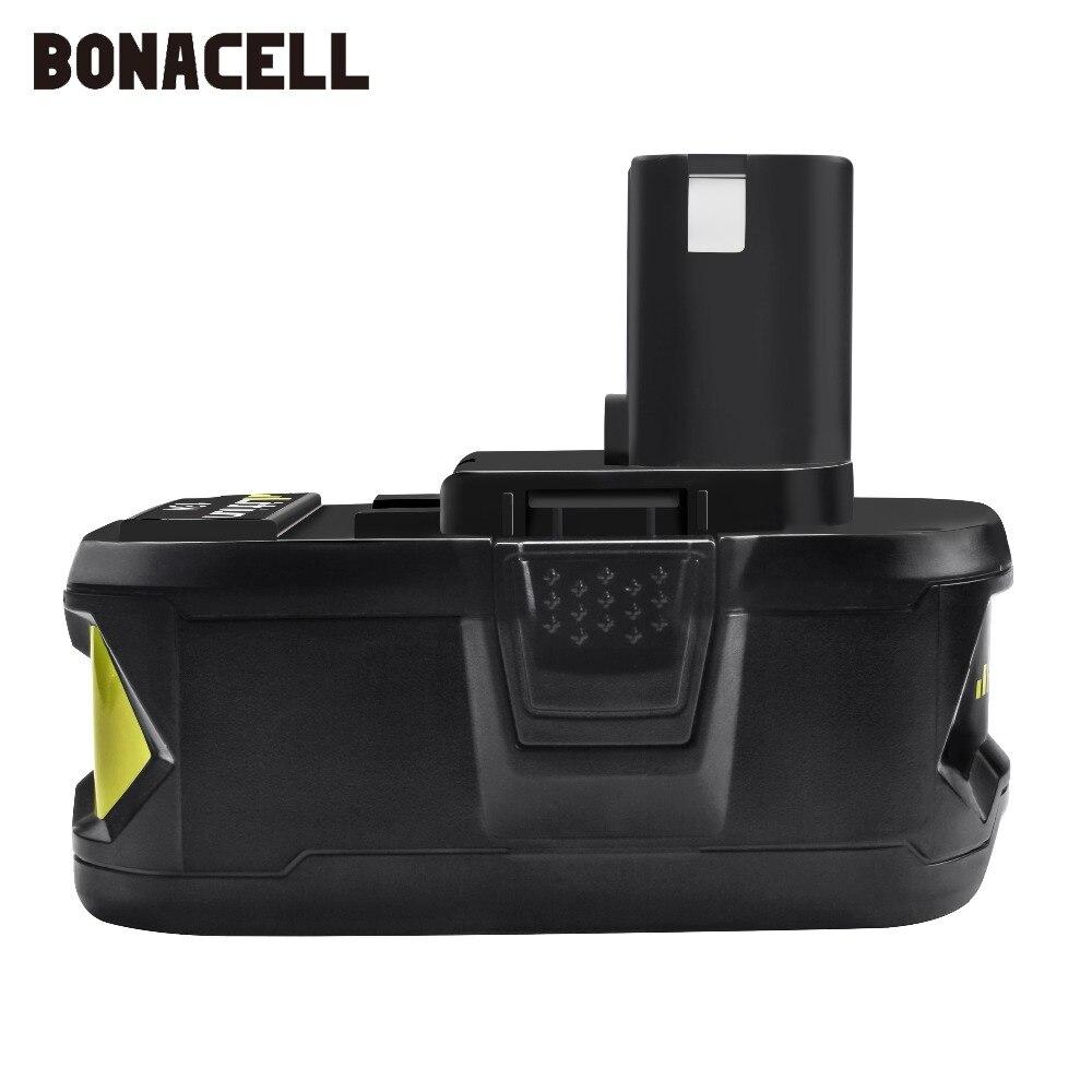 Image 3 - Bonacell 18 V 4000 мА/ч, литий ионный аккумулятор P108 P 108 Перезаряжаемые аккумулятор для Ryobi Батарея RB18L40 P2000 P310 для BIW180 L30-in Подзаряжаемые батареи from Бытовая электроника