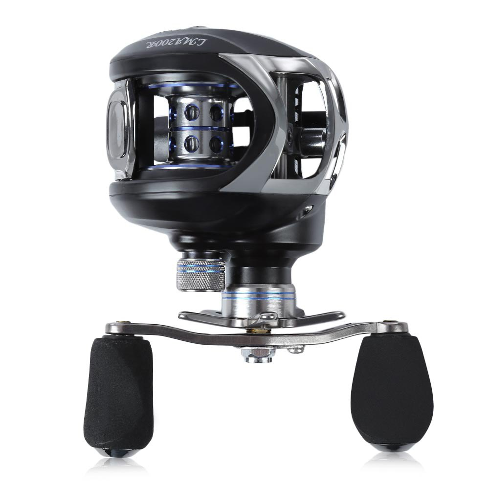 Outlife LMA200 Double Brake Baitcasting Reel Right Hand Baitcasting Reel River Ocean Boat Gear Casting Fishing Reel Lure Reel