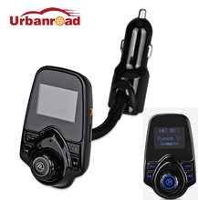 Urbanroad Black Wireless Bluetooth Fm Transmitter Handsfree Car Kit Car Mp3 Modulator USB Charger Audio LCD Display For Iphone