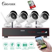 WOASER 4 0MP Wifi System Security IP Camera WIFI 4CH Wireless NVR Kit HD Outdoor Waterproof