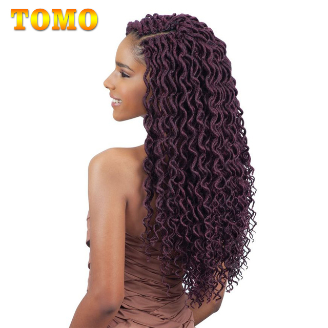 Tomo 24 Strands Curly Crochet Hair Twist Braids Dreadlocks Hair