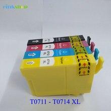 6pcs T0711 ink cartridge for Epson Stylus D78 D92 DX4000 S20 SX100 SX105 SX110 SX200 SX205 SX210 SX400 SX405 printer t0891