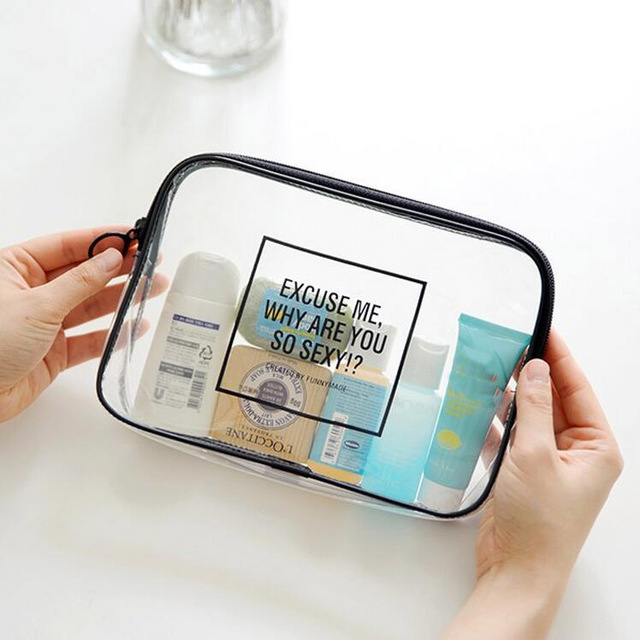 2pcs/set Women Simple Portable Makeup bag Cosmetic Bag Travel Toiletry Storage Oganizer Accessories Supplies Gear Stuff Product