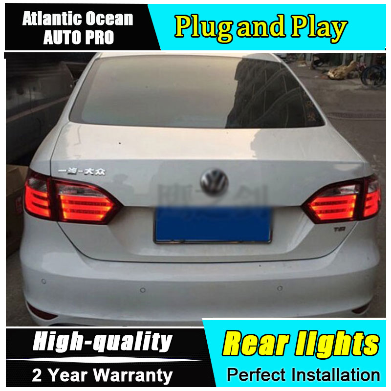 2011-2014 For vw jetta LED taillights For vw jetta MK6 LED rear lights car styling led car fog light DRL+Brake+Park+Signal LIGHT 2pcs car light for vw jetta 6 jetta mk6 2011 2012 2013 2014 car styling front halogen fog light fog lamp left and right side