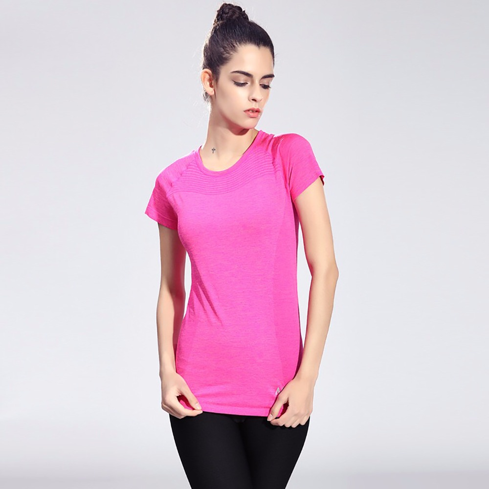 FLANDIS New Women T-Shirts Yoga Shirts Fitness Short Sleeve Short Ladies Gym Tees Sweatshirt Tops Clothing Running Sportswear