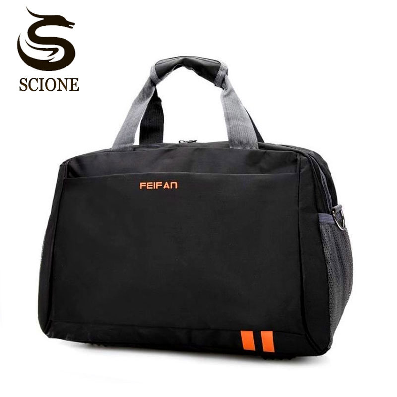 Scione Classic Travel Business Handbag Men Waterproof Cabin Luggage Tote Suitcase Women Large Casual Sport Weekend Shoulder Bag