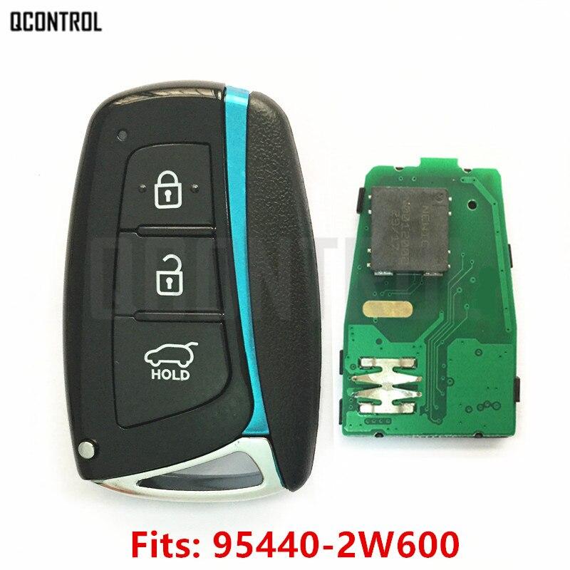 QCONTROL Car Remote Smart Key 433MHz ID46 Chip Suit For HYUNDAI Santa Fe IX45 Vehicle Control Alarm Door Lock