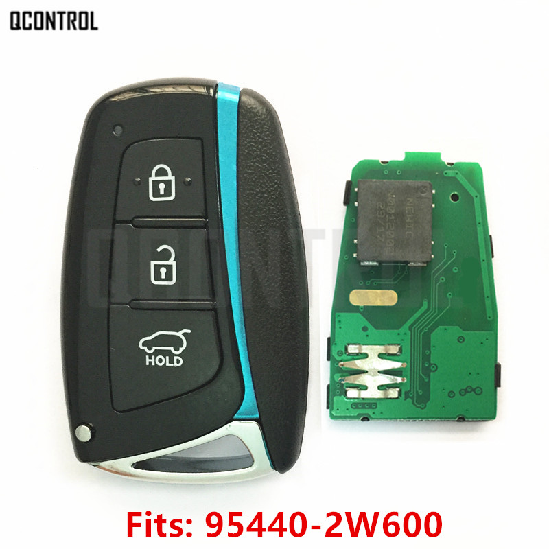 QCONTROL Car Remote Smart Key 433MHz ID46 Chip Suit for HYUNDAI Santa Fe IX45 Vehicle Control Alarm Door Lock