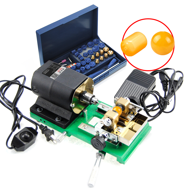 цена на Pearl Hole Punch Amber Beeswax Wooden Olive Bead Jade Grinding Drilling Electric Drill Machine Punching Machine