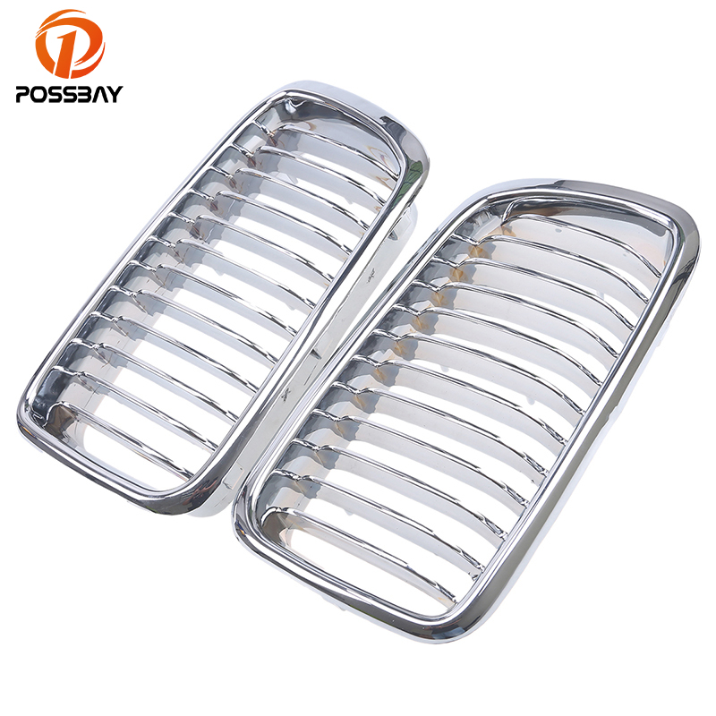 POSSBAY Auto Car Chrome Front Kidney Grill Grille for BMW 7 Series E38 725tds 728i 728iL