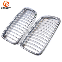POSSBAY Auto Car Chrome Front Kidney Grill Grille for BMW 7 Series E38 725tds/728i/728iL/730d Sedan 1994 2001 Racing Grills