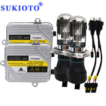 SUKIOTO 2021 new Car Lights H1 H3 H4 bixenon H7 H8 H11 HB3 HB4 Car Headlight high low DC12V 55W fast Bright hid ballast HID Kit