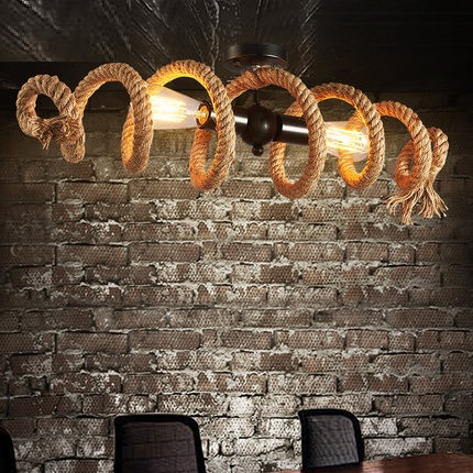 Creative Loft Style Hemp Rope Droplight Edison Vintage Pendant Light Fixtures For Dining Room Hanging Lamp Indoor Lighting loft style wooden cask hemp rope droplight edison vintage pendant light fixtures for dining room hanging lamp indoor lighting