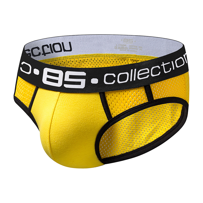 Buy Brand Men Underwear Mesh Sexy Men Briefs Breathable Mens Slip Cueca Male Panties Underpants Briefs Cotton Shorts Quick Dry BS107