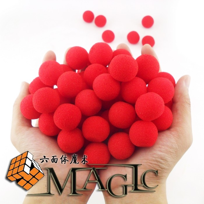 10PCS 2.5cm Finger Magic Props Sponge Ball Classical Illusion Comedy close-up stage card magic trick / wholesale / free shipping image
