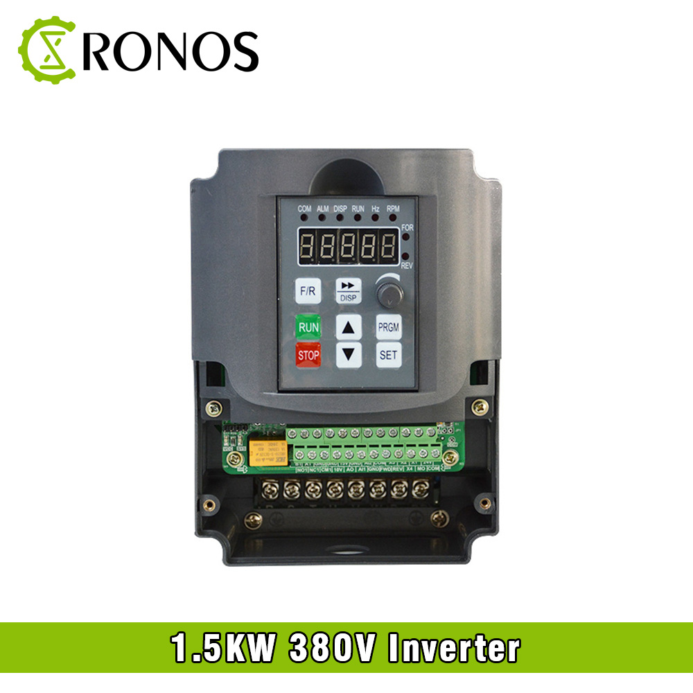 Spindle Motor Speed Control 380V 1.5KW VFD Variable Frequency Drive VFD 3HP Frequency Inverter For Motor