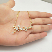 2019 New Custom Necklaces Personalized Name Necklaces Jewelry Custom Crystal Personalize Choker with Name for Women Girls Mother