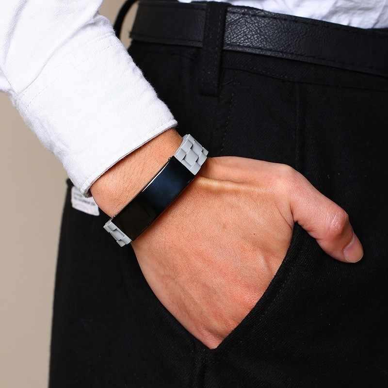 Citações religiosas fé amor cristão bíblia verso cruz inspiração id pulseiras de silicone para homens presentes personalizados para ele